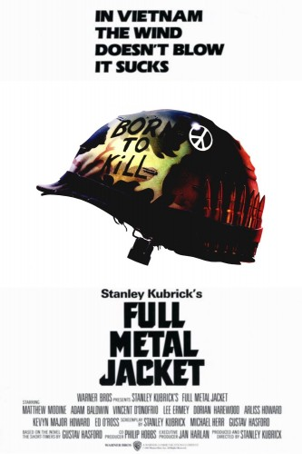 Full Metal Jacket led all honorable mentions with 12 points -- a first-place vote, a second-place vote and a third-place vote.