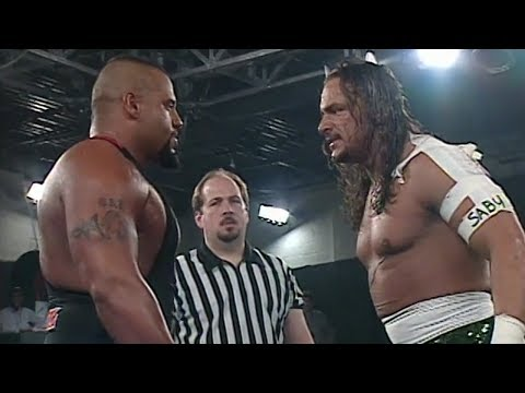 Sabu vs. Taz, the grudge match of the century.
