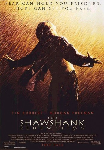 The Shawshank Redemption just missed making the final list by a single point, finishing with 10 points -- a first-place vote, third-place vote and fourth-place vote.