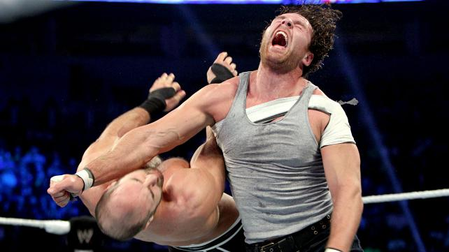 Ambrose and Cesaro kick it up a notch on Friday Night Smackdown. [Photo Courtesy of WWE.com]
