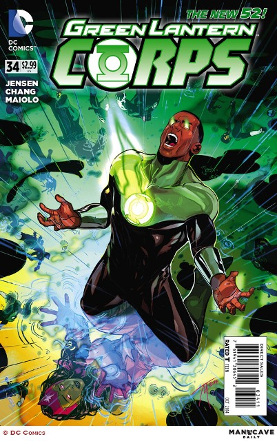 Green Lantern Corps #34 cover