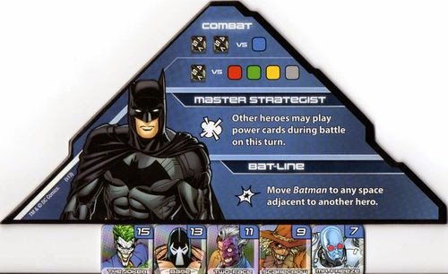 Batman's powers list.