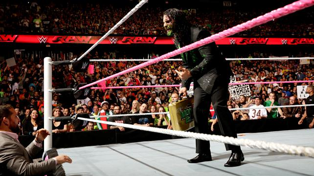 Seth Rollins' night would end much better than this. (Courtesy WWE)