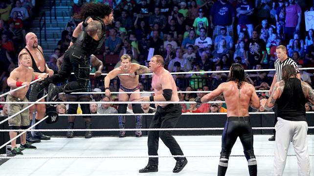 A ten-man tag team match, playa! [Photo Courtesy of WWE.com]