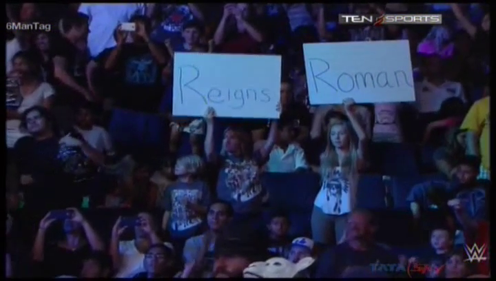 Makes me wonder just how devoted Roman Reigns fans really are if this was the best celebration camera shot WWE directors could find, don't you think?