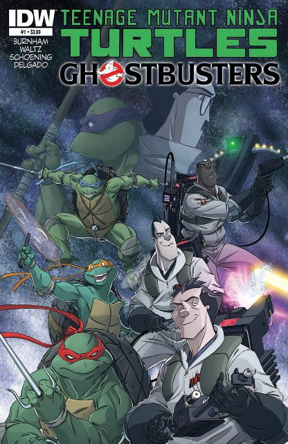 TMNT/Ghostbusters #1 cover