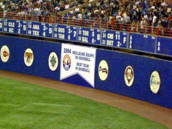 This banner, hung at the Expos' last-ever home game in 2004, represents what could've been.