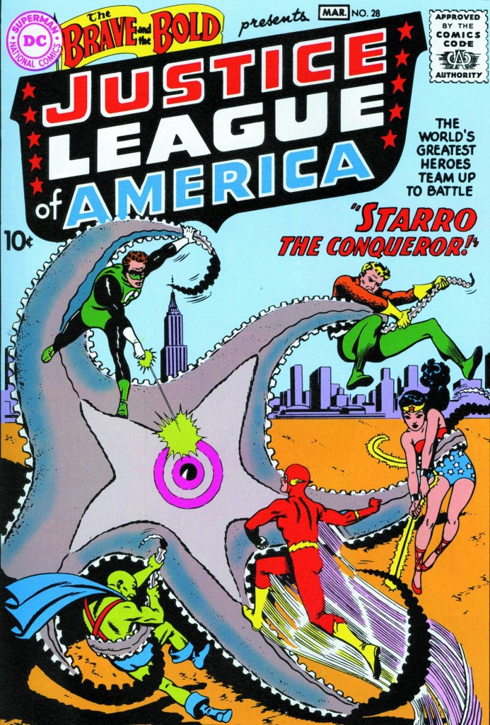 The Justice League of America in the Brave and the Bold #28, March 1960.