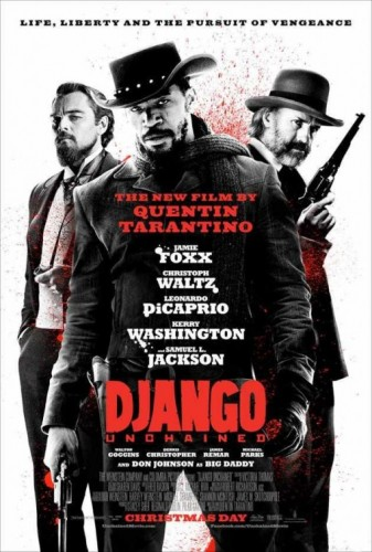 Django Unchained led all honorable mentions with 8 points. It received  two third-place votes and two fifth-place votes.