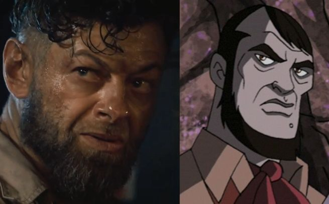 Left: Andy S. in Age of Ultron. Right: Ulysses Klaw.