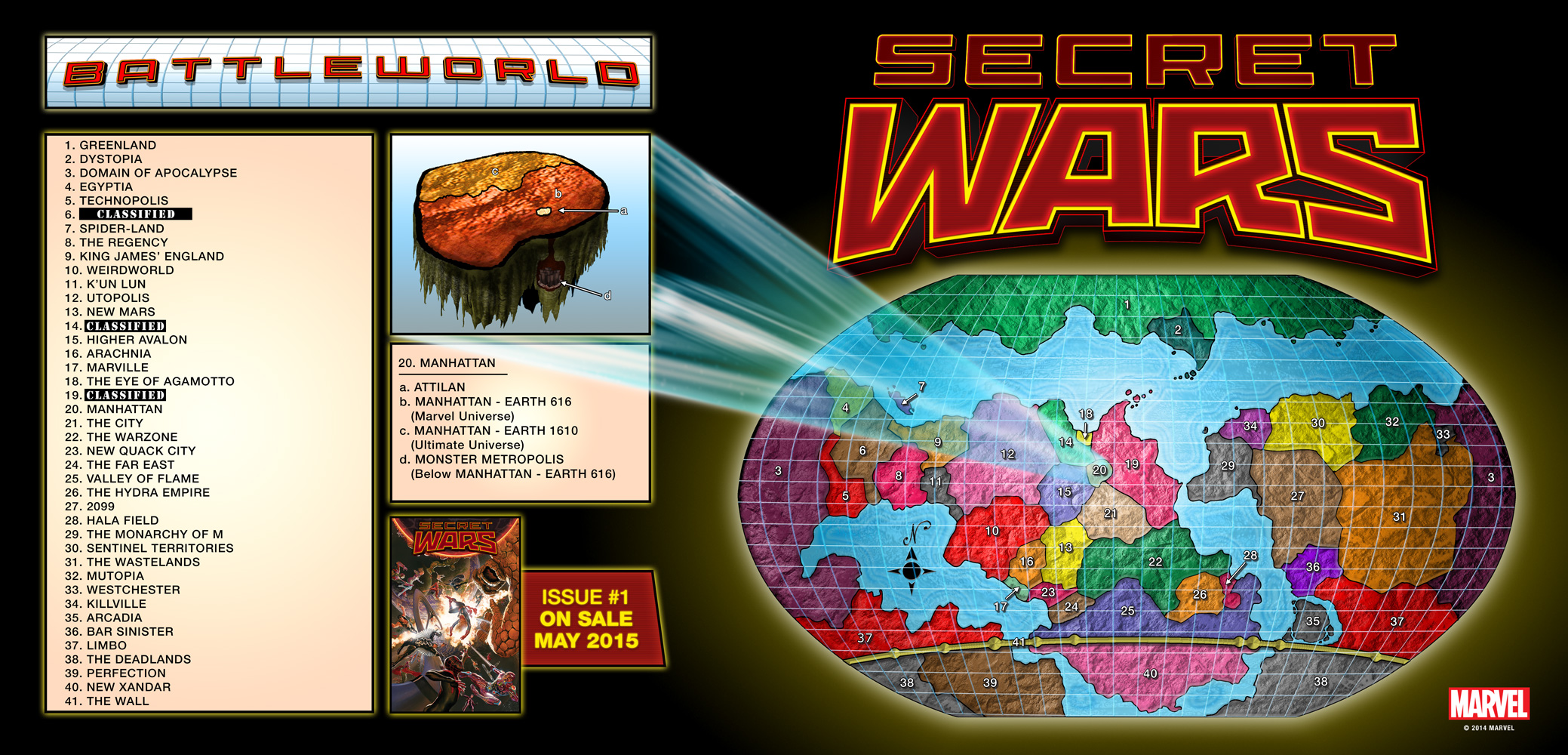"""I will say, the promotion behind """"Secret Wars"""" has been wickedly fun, highlighted by an interactive map revealing the known realms of Battleworld -- and lots of guesswork as to the identity of the ones that remain classified."""