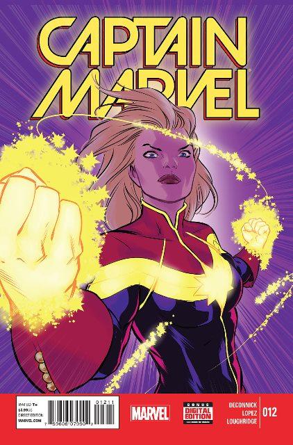 Captain Marvel #12 cover