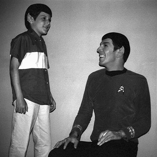 Nimoy with his son Adam