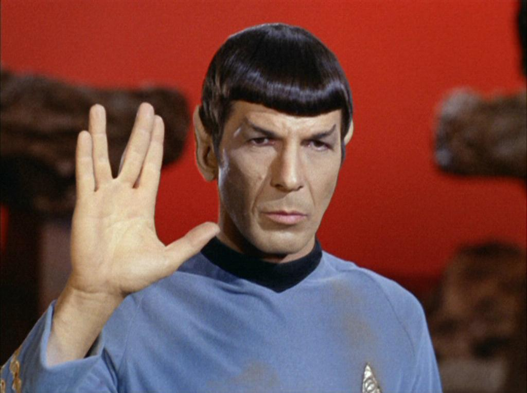 Another of Nimoy's contributions: a hand gesture nicked from a Jewish priestly blessing.