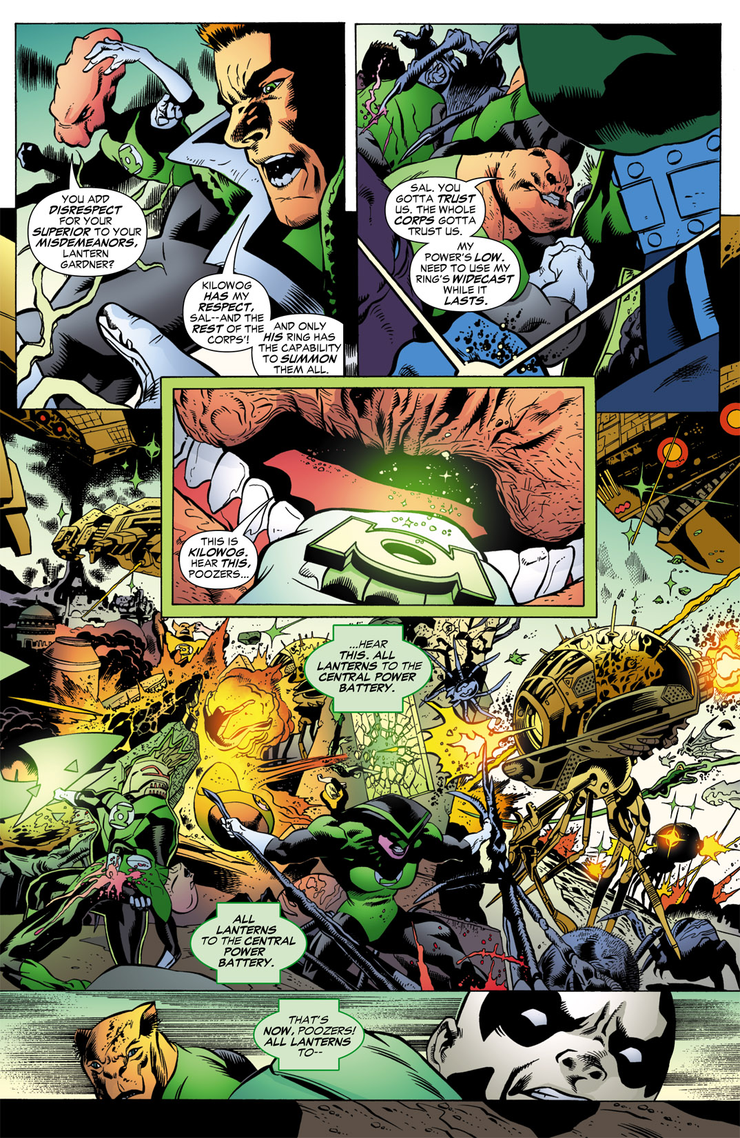 "Think of Kilowog as Sgt. Slaughter and ""poozers"" as ""maggots."""