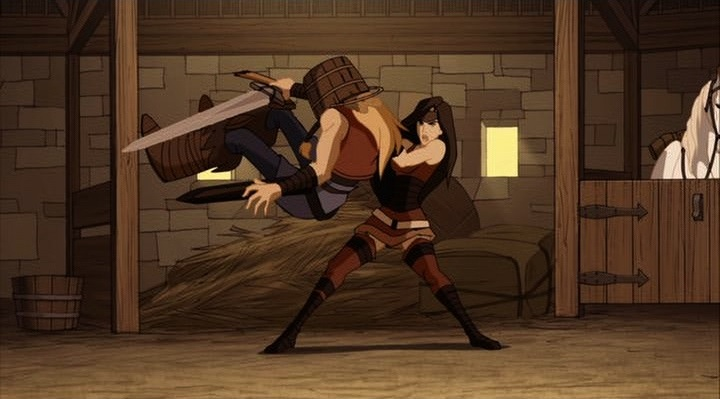 The Lady Sif takes on avant-garde Japanese wrestler Ken the Box.