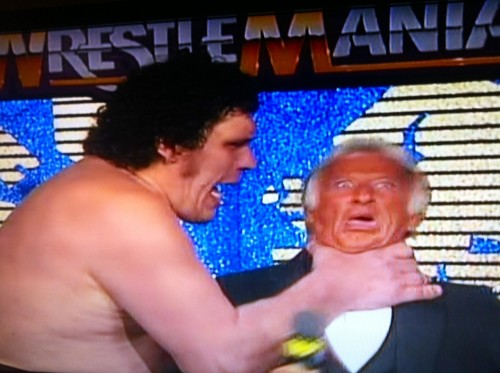Jordan Duncan's face when he watches WrestleMania IV.