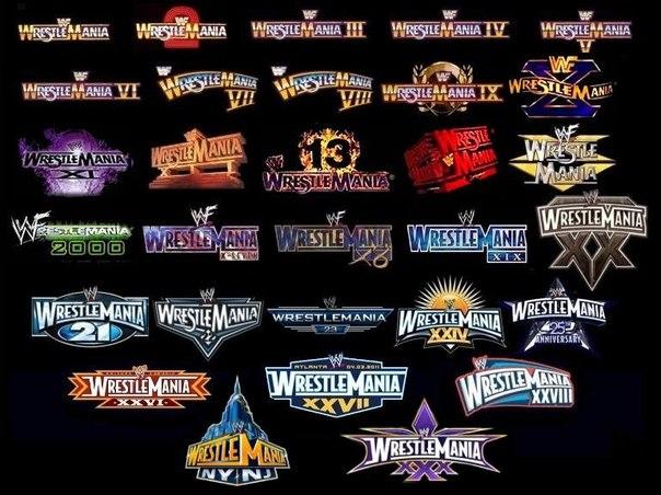 wrestlemania-logos