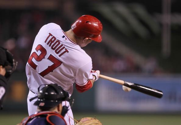 Mike Trout will lead a dynamic Angels' outfield in 2015.