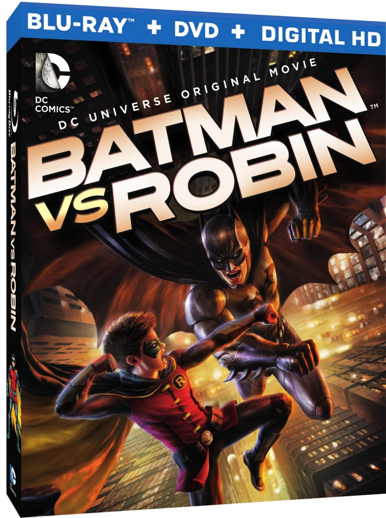 Batman vs Robin blu ray cover
