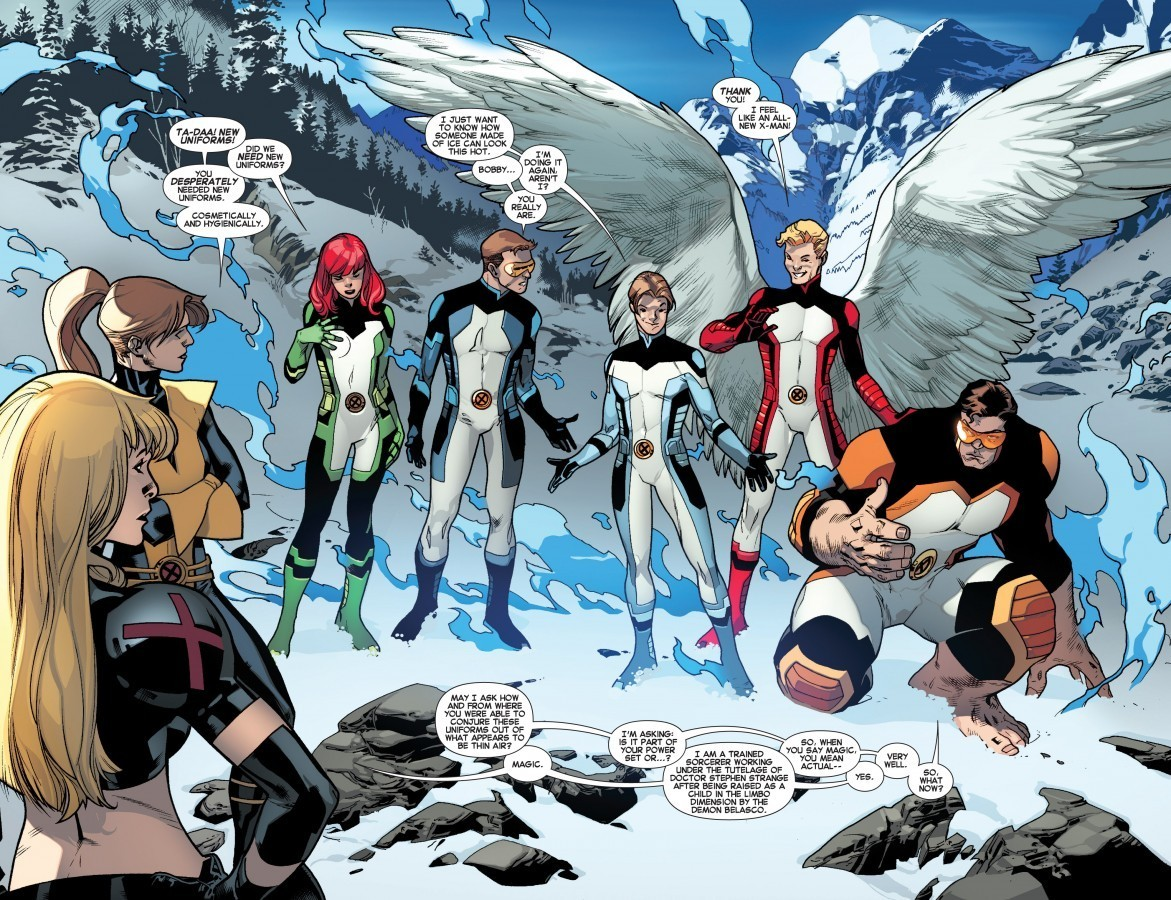 The All-New X-Men in their all-new duds