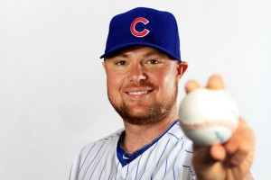 Jon Lester wants to share his baseball with you. Go on, take it.