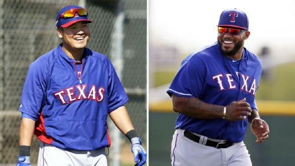The Rangers would love to see Shin-Soo Choo and Prince Fielder healthy in 2015.