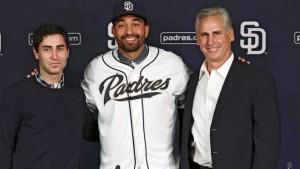 Did GM A.J. Preller (L) do enough to improve the Padres' chances?