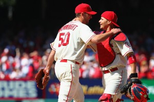 Adam Wainwright (L) and Yadier Molina (R) are key cogs for the well-oiled St. Louis machine.