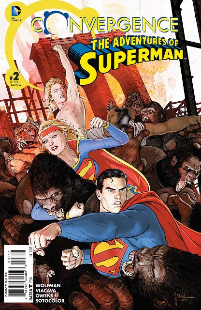 Convergence Adventures of Superman #2 cover