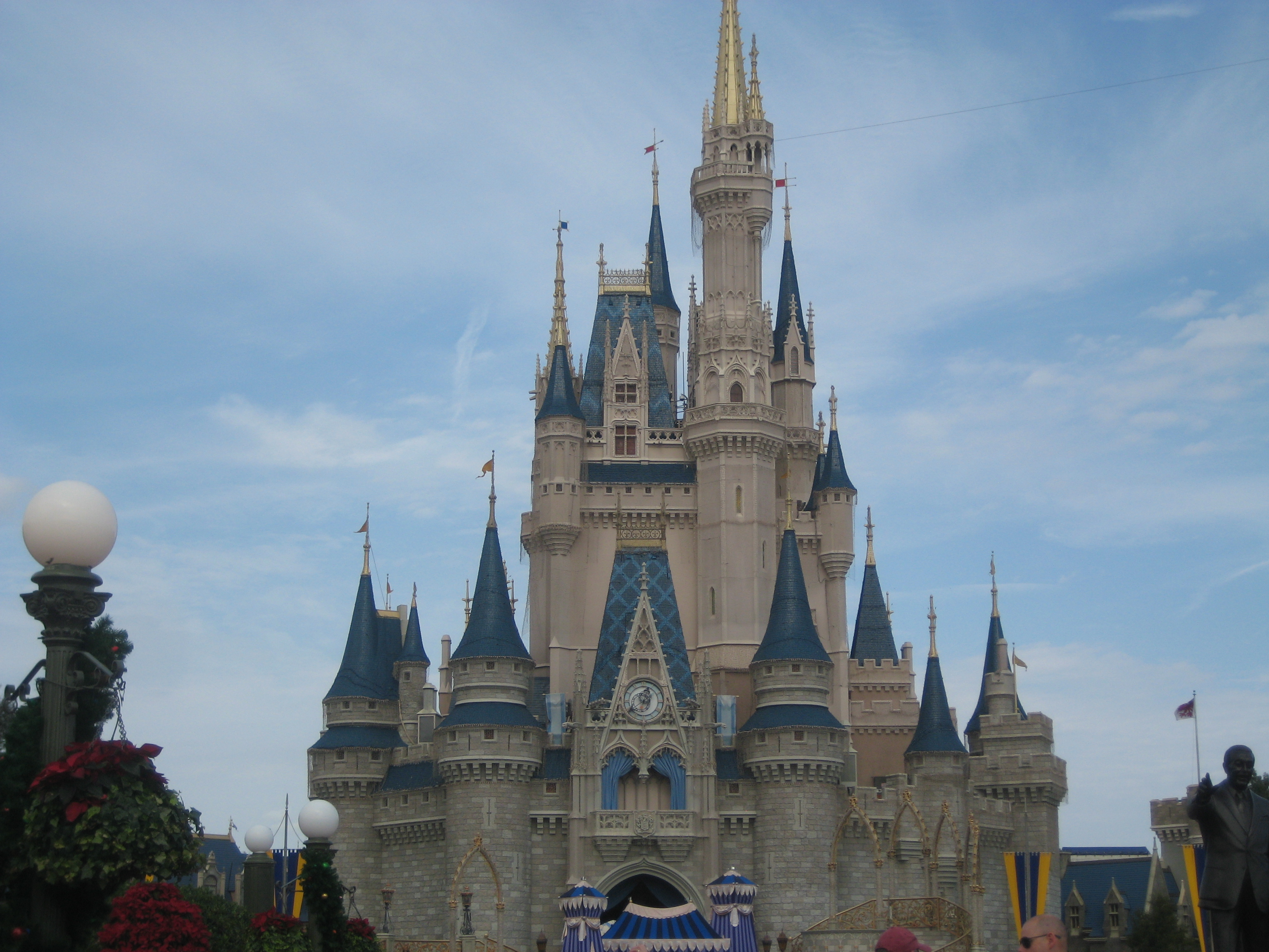 Cinderella Castle at the Magic Kingdom. One of many oversized fantasy buildings you and your family will be pictured in front of.