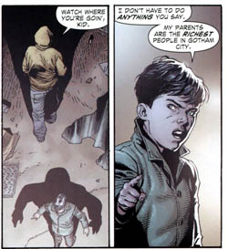 Young Bruce is ... not exactly endearing.