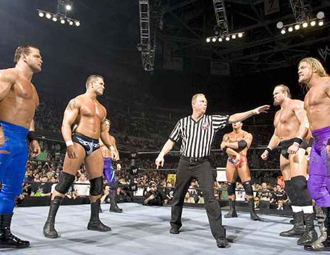 Survivor_Series_2004_-_Randy_Orton_Team_Vs_HHH_Team_04