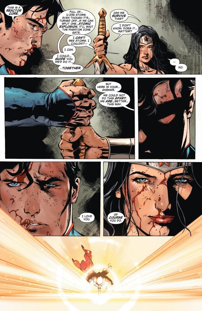 Wonder Woman gettin' all Han Solo on us.
