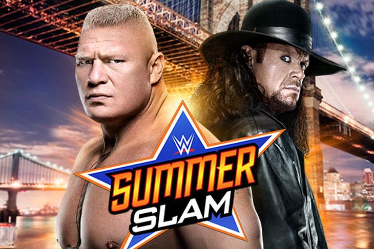 How was the booking of the main event of SummerSlam?