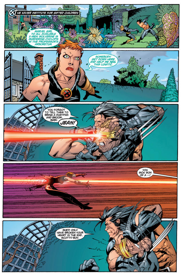 Soul Patch Wolverine takes on Scott and Jean. All is not as it appears.