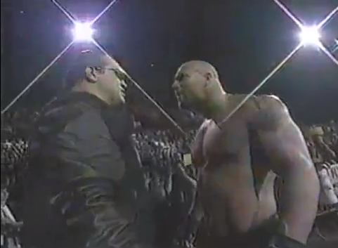 The beginning of Goldberg's first feud!
