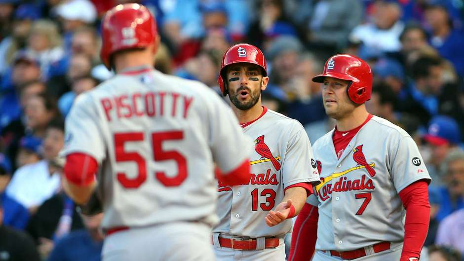 Stephen Piscotty, Matt Carpenter (13), and Matt Holliday (7) are three key cogs for the Redbirds in 2016.