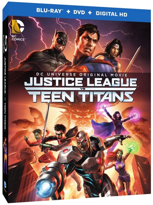 Justice League vs. Teen Titans cover