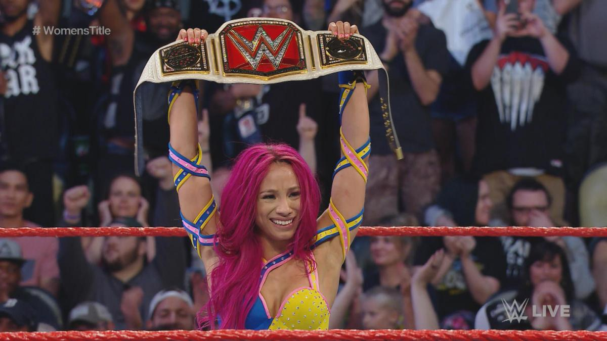 Sasha Banks capped off an impressive July by winning the WWE Women's Title!