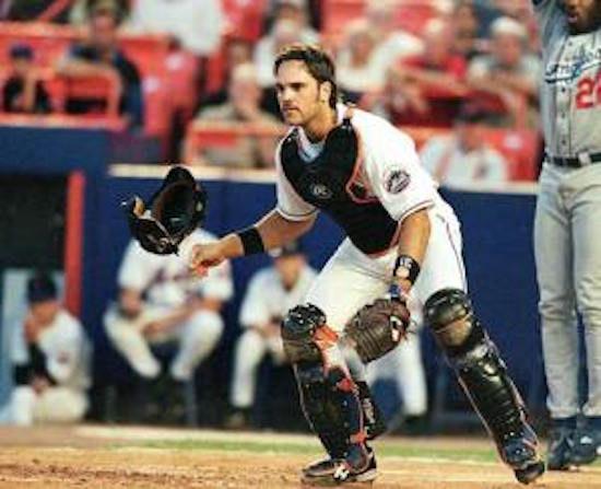 Despite a sub-par rep during his playing days, Piazza was a fine defensive catcher as well.