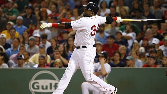 Papi launching a home run, as much of a tradition as Fenway Franks.