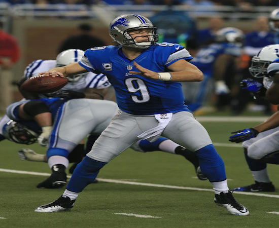 Detroit QB Matthew Stafford helped the Lions top the Colts 39-35 in Week One.