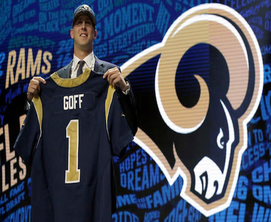 Our guys are not too high on the L.A. Rams or their most recent No. 1 draft pick.