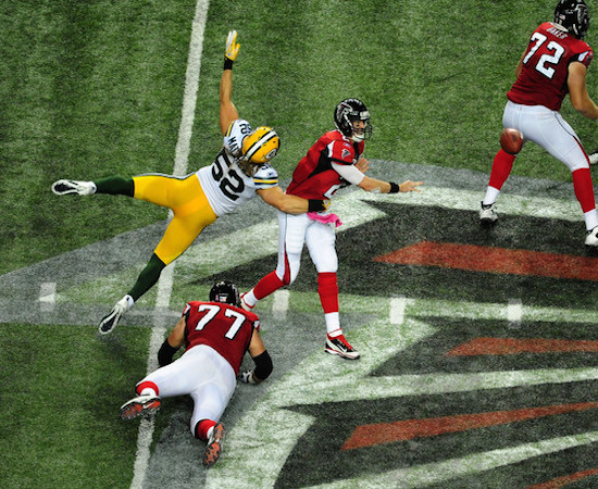 The Packers at the Falcons is a marquee Week 8 contest.