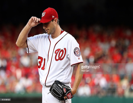 With 20 wins and 284 strikeouts, Max Scherzer became just the sixth pitcher to win a Cy Young award in both leagues. He last won with Detroit in 2013.