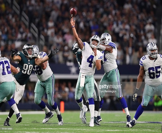 Despite a shaky game against Philly this week, Dak Prescott has the Cowboys at 6-1.