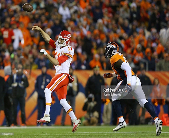 Chiefs' QB Alex Smith came up huge in a win over Denver this week.