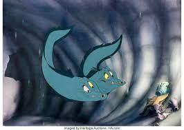 The Little Mermaid Flotsam and Jetsam Production Cel (Walt Disney, | Lot  #95158 | Heritage Auctions